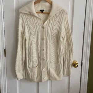 Talbots button down sweater with pockets